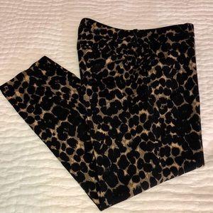 Old Navy Harper Mid-rise Leopard Print Pant